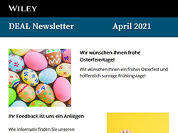 April 2021-Wiley Newsletterausgaben
